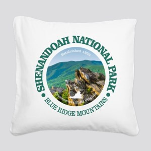 Shenandoah National Park Square Canvas Pillow
